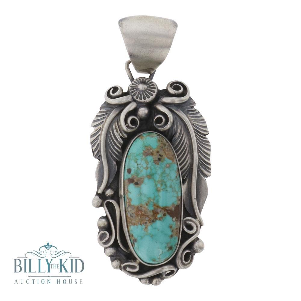 Richard Hoskie Nevada Turquoise Garden Motif Pendant
