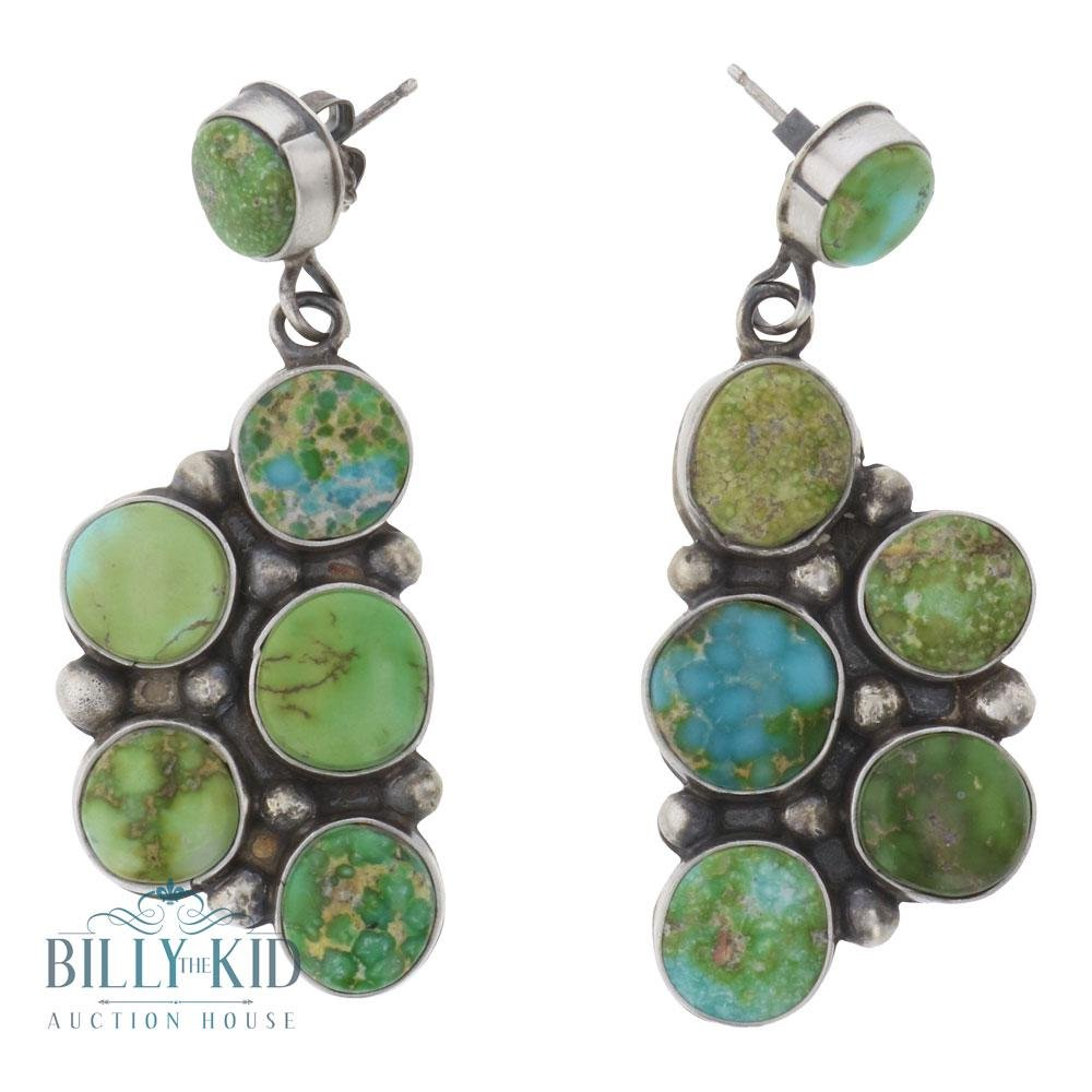 Eleanor Largo Sonoran Gold Turquoise Cluster Earrings