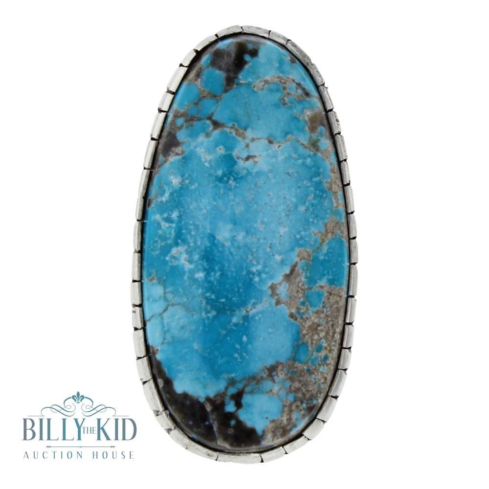 Darrin Livingston Blue Diamond Turquoise Freeform Ring