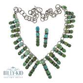 Pansy Johnson Emerald Valley Turquoise Necklace &