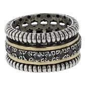 Vintage 14K Gold & Silver Band Ring