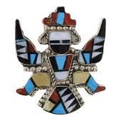 Vintage Zuni Inlay Knife wing Pin & Pendant