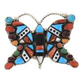 Turquoise Spiny Oyster  Mixed Stone Inlay Large