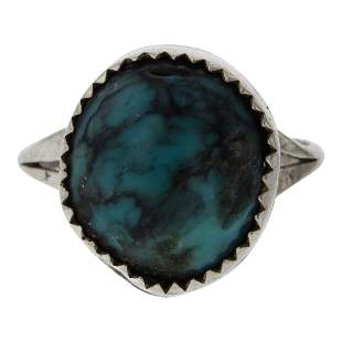 Navajo Turquoise Round Shaped Ring