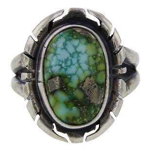 Scotty Skeets Sonoran Gold Turquoise Ring