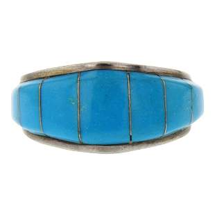 Chris Livingston Turquoise Inlay Ring