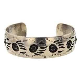 Pearlene Spencer Black Onyx Bear Paw Cuff Bracelet