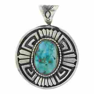 Randy Billy Turquoise Mountain Turquoise Overlay