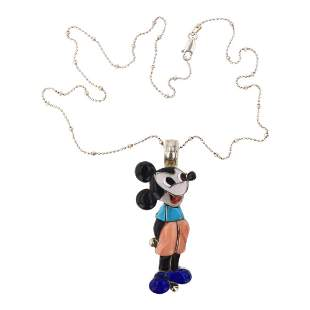 Veronica Poblano Zuni Inlay Cartoon Disney Mickey Mouse