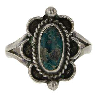 Vintage Old Pawn Turquoise Ring