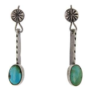 Vintage Pawn Nevada Turquoise Earrings