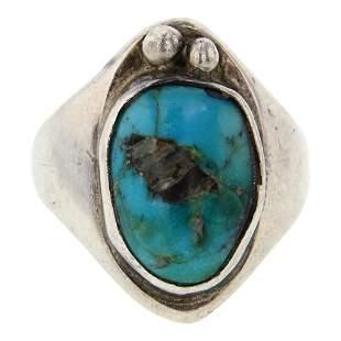 Vintage Pawn Nevada Turquoise Men's Ring