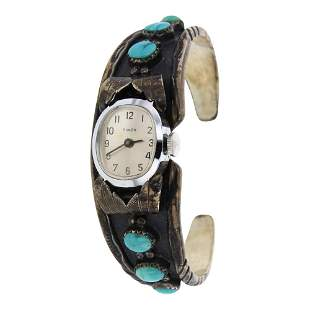 Vintage Kingman Turquoise Watch Bracelet