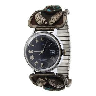 Vintage Nevada Turquoise Watch Bracelet
