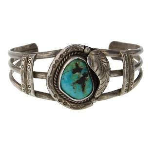Vintage Old Pawn Nevada Turquoise Bracelet