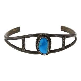 Old Pawn Vintage Kingman Turquoise Bracelet