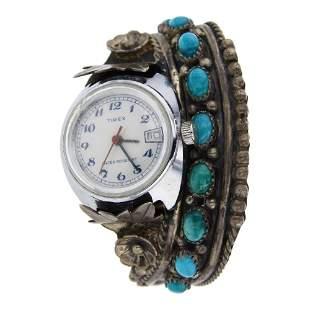 Bahe Vintage Turquoise Watch Bracelet