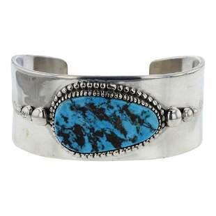 Danny Clark Kingman Turquoise Contemporary Design Cuff