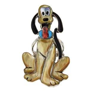 Don Dewa Zuni Cartoon Disney Pluto The Dog Ring