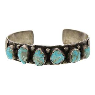 Vintage Pawn Nevada Turquoise Cuff Bracelet