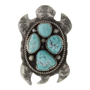 Leigha Cleveland Navajo White Water Turquoise Sea