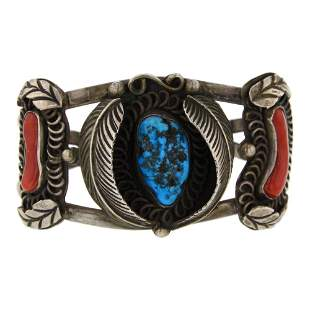 Vintage Pawn Sleeping Beauty Turquoise & Coral