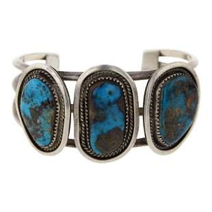 Vintage Pawn Pilot Mountain Turquoise Bracelet