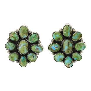 Eleanor Largo Sonoran Cold Turquoise Cluster Earrings