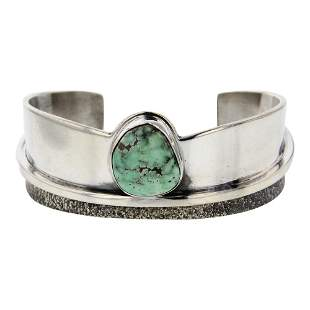 Benny Ramone Carrico Lake Turquoise Contemporary Cuff