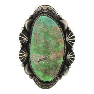 Carrico Lake Turquoise Specimen Navajo Ring