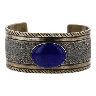 Mark Yazzie Lapis Cuff Bracelet