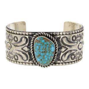 Jeff James Jr. Turquoise Mountain Turquoise Cuff