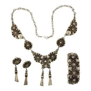 Clem Nelwood Vintage Bracelet Necklace & Earrings