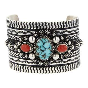 Darryl Becenti Turquoise Mountain Turquoise & Coral