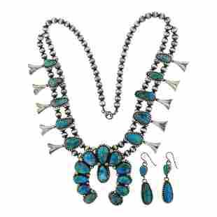 Kathleen Chavez Blue Ridge Turquoise Squash Blossom