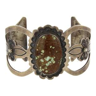 Robert Shakey Turquoise Cuff Bracelet