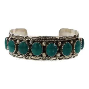 Marie Thompson Turquoise Cuff Bracelet
