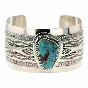 John Nelson Turquoise Cuff Bracelet
