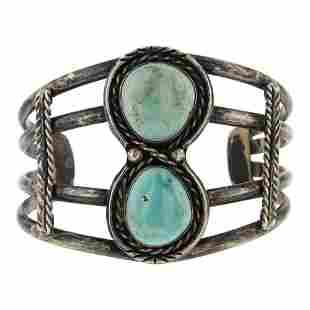 Old Pawn Nevada Turquoise Bracelet