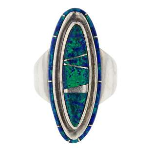 Vintage Calvin Begay Synthetic Opal Ring