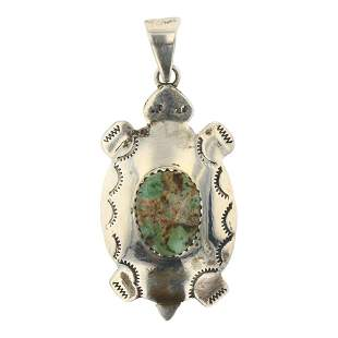 Nevada Turquoise Turtle Pendant