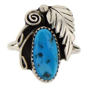 Kingman Turquoise Garden Motif Ring