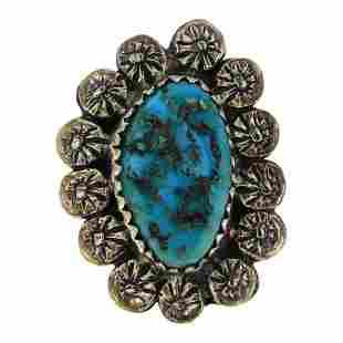 Old Pawn Kingman Turquoise Ring