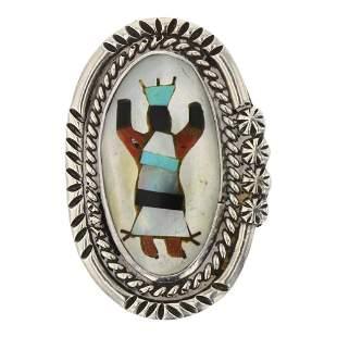 Vintage Zuni Mixed Stone Inlay Ring