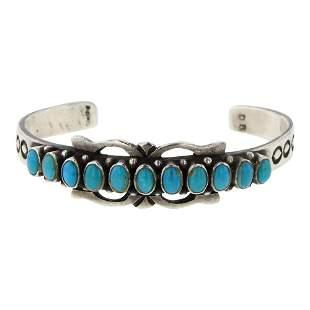 Douglas Begay Turquoise Row Bracelet