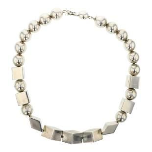 Vintage Contemporary Design Geometric Silver Beads