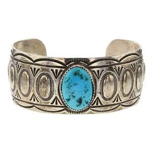 Jenny Blackgoat Vintage Pawn Turquoise Cuff Bracelet