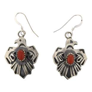 RB Coral Thunderbird Earrings
