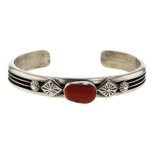 Coral Contemporary Cuff Bracelet