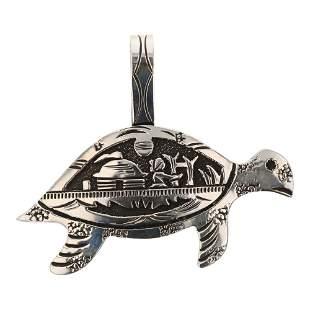 Rick Singer Navajo Story Teller Overlay Sea Turtle